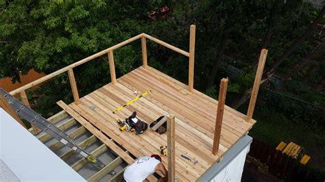 Terrasse Sur Le Toit by Construction De Terrasse Sur Toit Construction