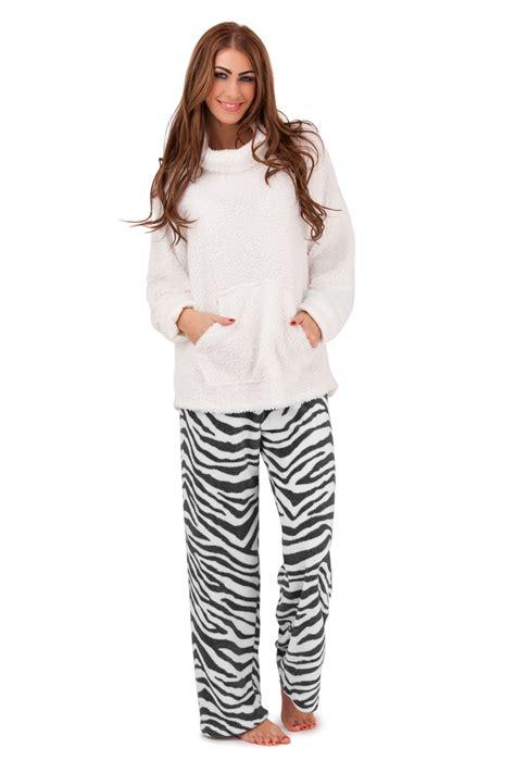 Pyjamas Set Toppants Size Ml fleece lounge jumper top set warm pyjamas
