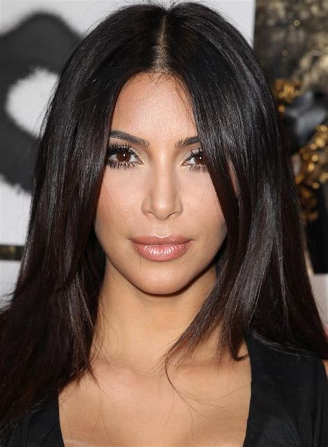 middle part black hairstyles long bangs middle part kim kardashian www pixshark com