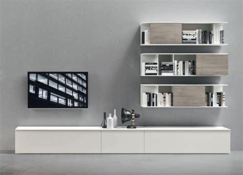 wall unit tv bookcase novamobili wall unit tv unit bookcase 11 contemporary