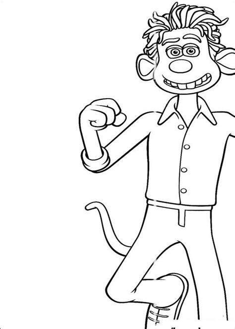 kids n fun com 18 coloring pages of flushed away