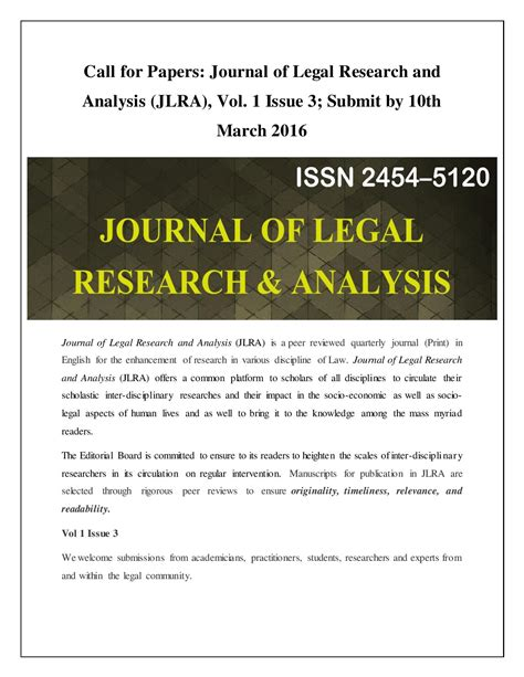 journal of business research call for papers call for papers journal of research and analysis