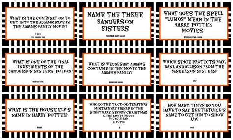 halloween themed quiz questions halloween printable trivia festival collections