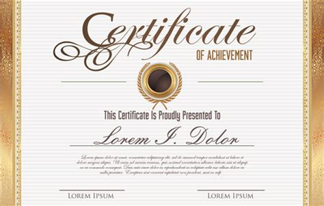 certificate design vector eps vector template certificates design graphics free vector