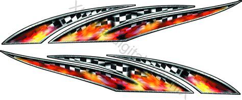 race car graphics racing metal wave automotive graphic decals xtreme