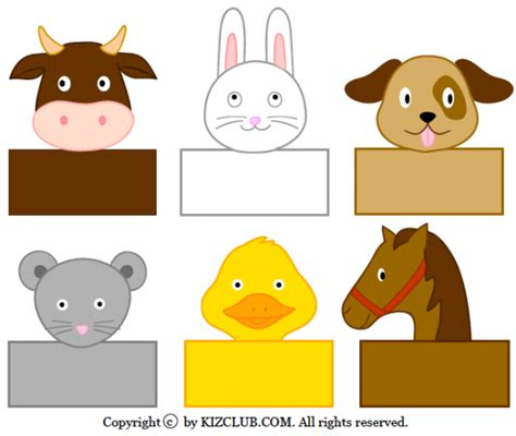 printable animal crafts 64 fab resources for kids food chores worksheets tip