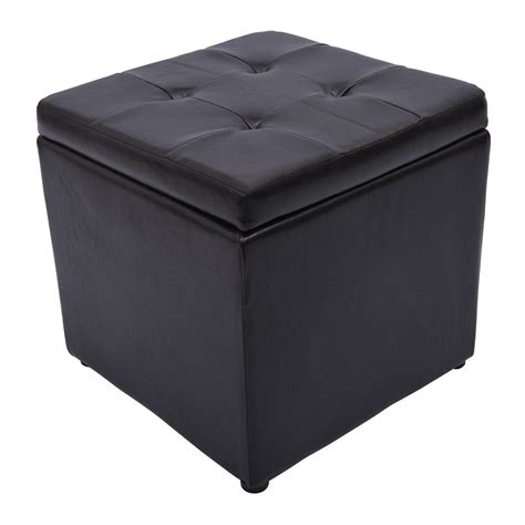 Square Storage Ottoman Top Square Storage Ottoman Home Design Ideas