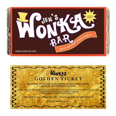 willy wonka bar wrapper template wonka bar customize printable digital by ttlgphotoandgraphics
