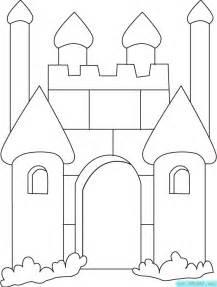 卡通城堡填色图片 宝宝涂色画下载 61幼儿网