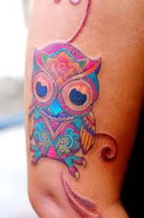 colorful tattoos owl colorful my works
