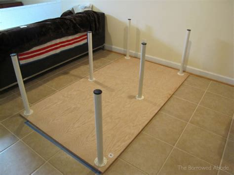 cheap diy table legs cheap easy build a large or tiny sewing crafting table the borrowed abodethe borrowed abode