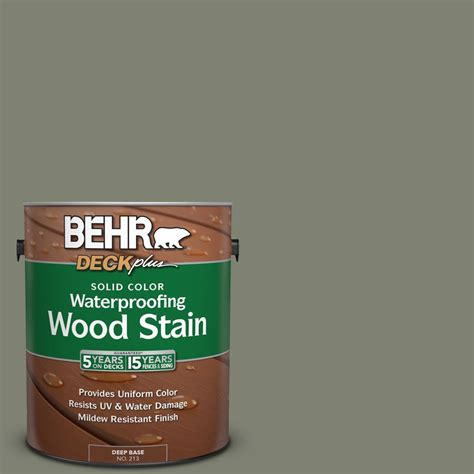 behr solid color waterproofing wood stain behr deckplus 1 gal sc 137 drift gray solid color