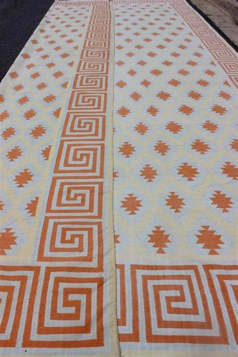 cotton dhurrie rugs sale vintage cotton dhurrie large rug for sale at 1stdibs