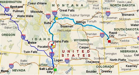 printable idaho road map montana 171 timbotrip com