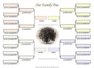 Free Family Trees For Three Generations Of Two Families Printable Family Tree Charts Family Tree Website Templates Free