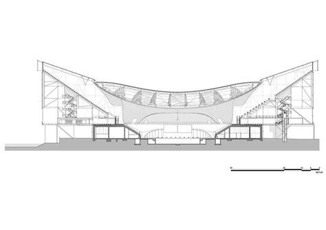 cros section zaha hadid architects london aquatics centre arch1139