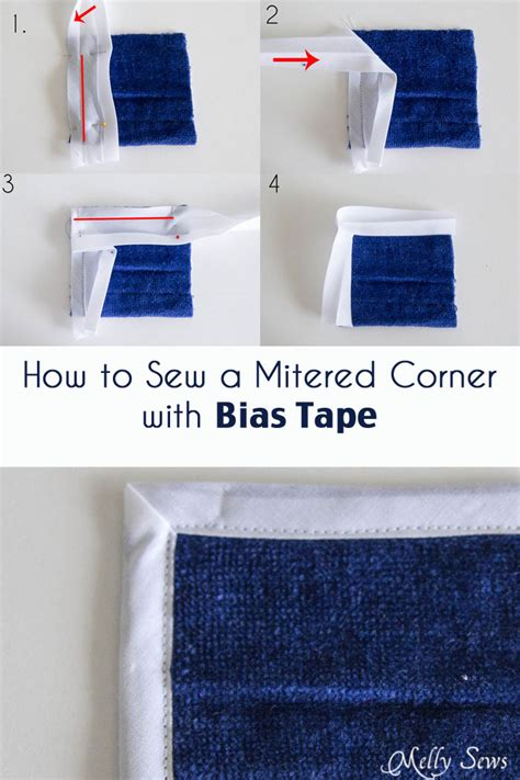 how to miter a corner with bias melly sews