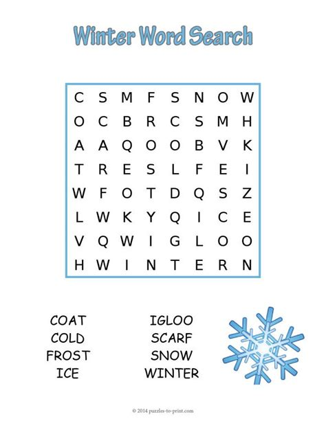 easy printable word search puzzles free free coloring pages of winter word search