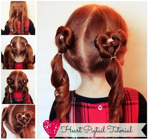 diy hairstyles we heart it heart pigtails hairstyle tutorial diy craft projects