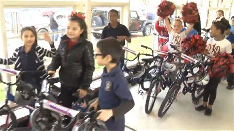 academy sports and outdoors beaumont port arthur students surprised with new bikes for the