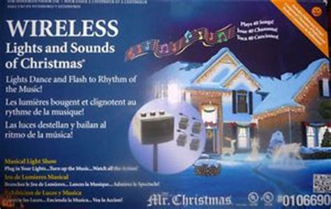 mr christmas lights sound motion activated bells set