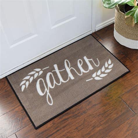 Decorative Indoor Door Mats Gather Harvest Thanksgiving Welcome Door Mat