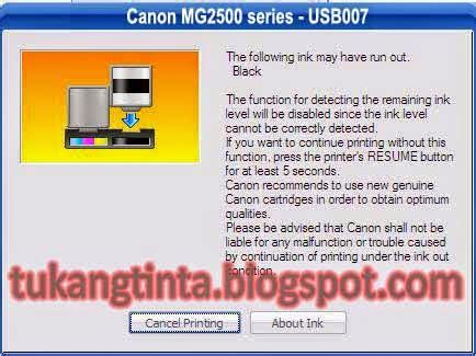 reset canon mg2570 pusat modifikasi printer infus cara reset cartridge