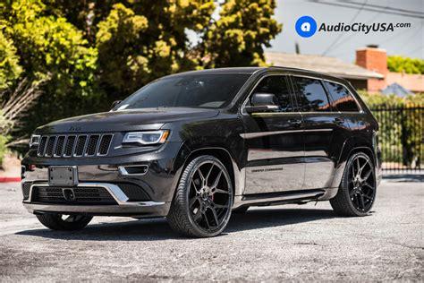 2016 jeep grand blacked out 24 quot giovanna wheels haleb gloss black rims 2016 jeep