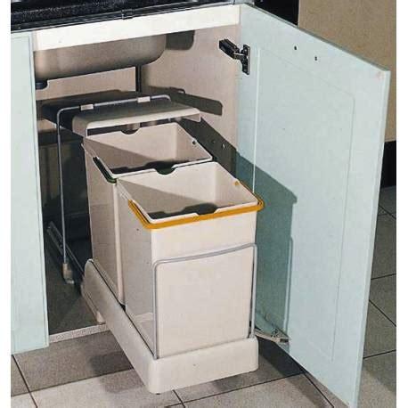 poubelle coulissante tri meuble sous evier accessoires de