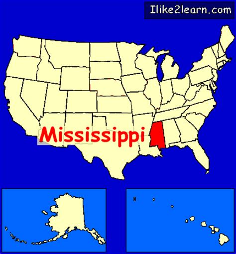 mississippi in usa map mississippi