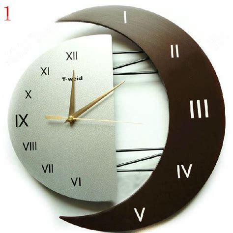 creative clocks elegant modern moon shaped creative wall clock