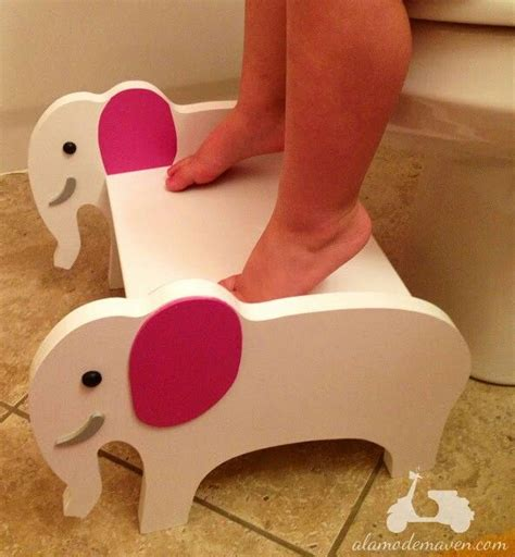 elephant step stool diy painting   upholstering