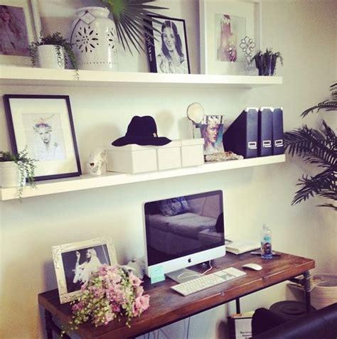 shelves above desk ideas for the house