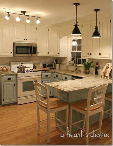 two tone kitchen cabinet pulls kitchen redo with two tone cabinets in blue and cream