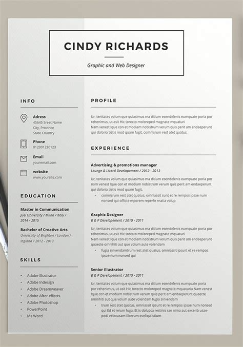 Designer Resume Templates by 21 Resume Design Templates Free Psd Word Designs Creative Template