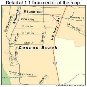 map of seaside oregon cannon oregon map 4110850