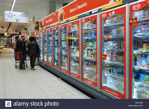 Freezer Carrefour freezer department with of unilever heartbrand