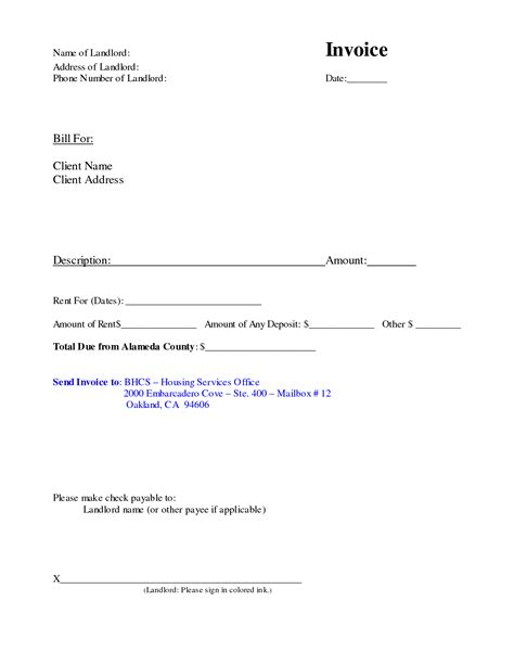 landlord rental receipt template best photos of landlord agreement template free