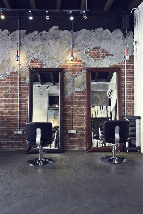 Salon Industriel Design by Industrial Hair Salon Design Chairs Mirrors Wall Design