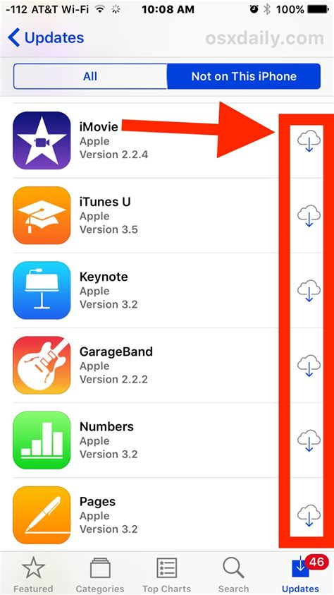 redownload reinstall any ios app on iphone or