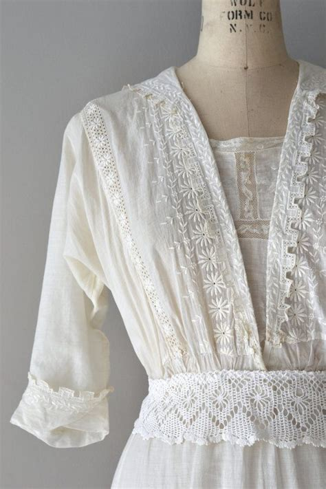 Vintage Cotton Wedding Dresses by Afternoon Tea Dress Vintage Cotton Edwardian Dress
