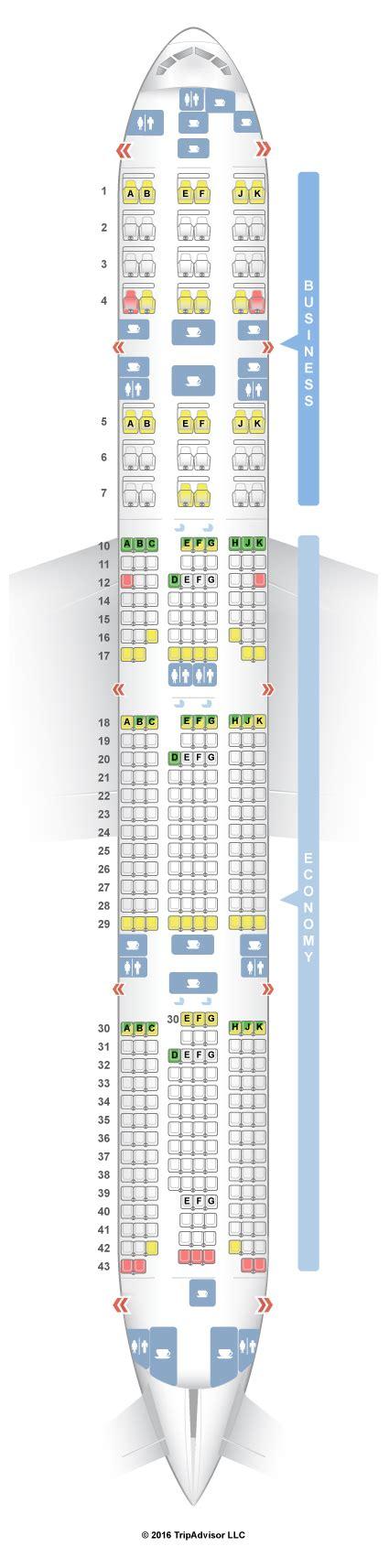 plan si鑒es boeing 777 300er seatguru seat map qatar airways boeing 777 300er 77w v1