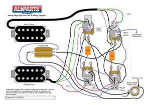 wiring kit jimmy page les paul 174 style allparts uk