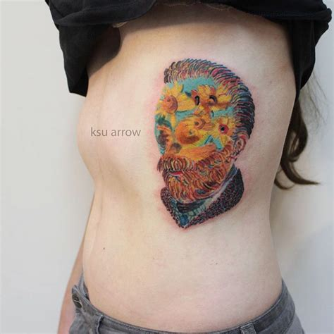 van gogh sunflower tattoo 40 breathtaking classical tattoos amazing ideas