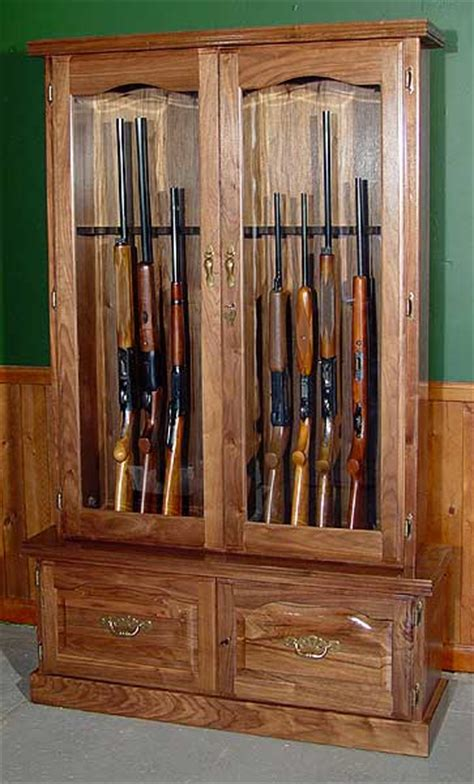 walnut gun cabinet 12 gun 912 by scout products