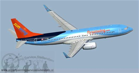 sunwing airlines c ftzd boeing 737 800w c ftzd for fsx