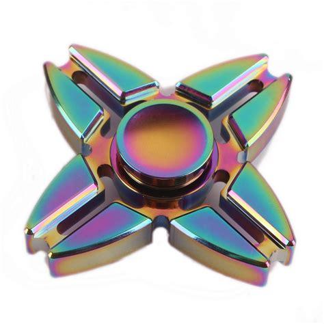 Led Fidget Spinner Spinner Led Lu Disco Edc Spiner L 1 rainbow chameleon split four way metal edc fidget spinner