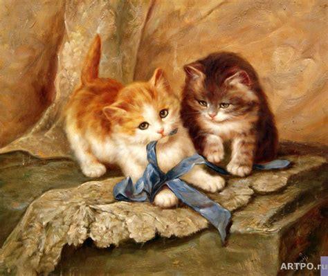 painting kitten cats the artworks smorodinov ruslan paintings