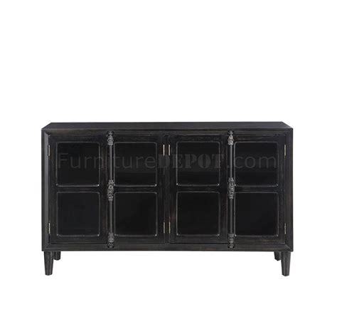 accent cabinet with glass doors accent cabinet 950780 in black w glass doors by coaster