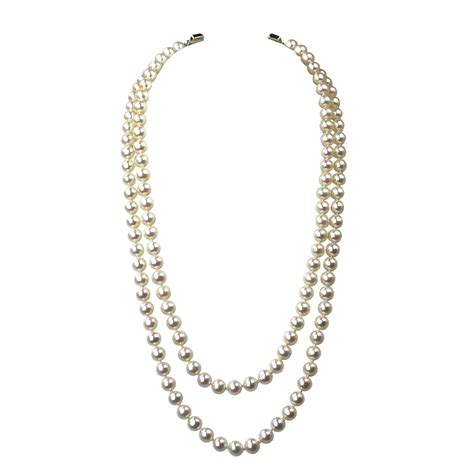 strand pearl necklace aaa 6 5 7mm white semi fr bourdage pearl jewelry